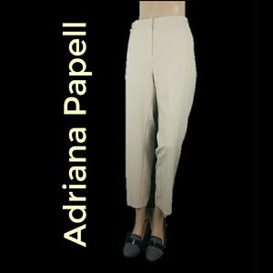 Adrianna Papell Taupe High Wiasted Pants Slacks 12